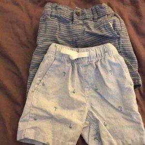 Toddler boy summer shorts 2 pairs!!